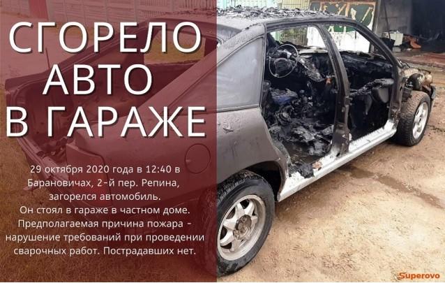 29.10.2020 Сгорело авто в гараже