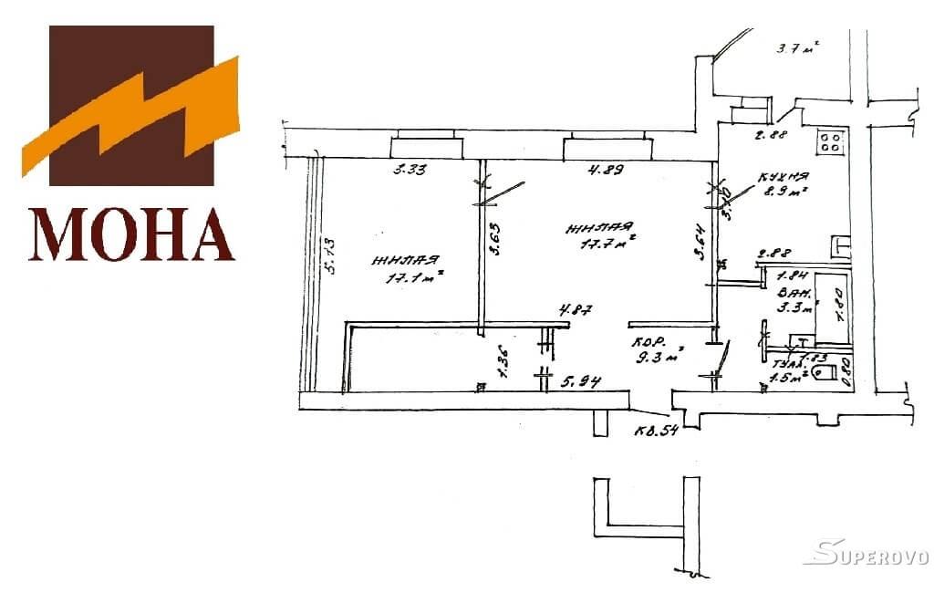 Продам 2-комнатную квартиру в Барановичах ул. 50 лет БСССР