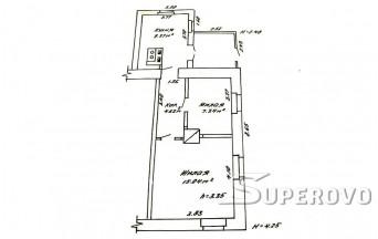 Продам 2-комнатную квартиру в Барановичах в центре в 1-м доме