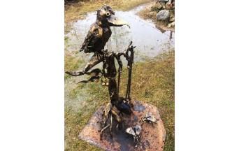 Купить кузнечную работу в Барановичах Каминный набор с птицей